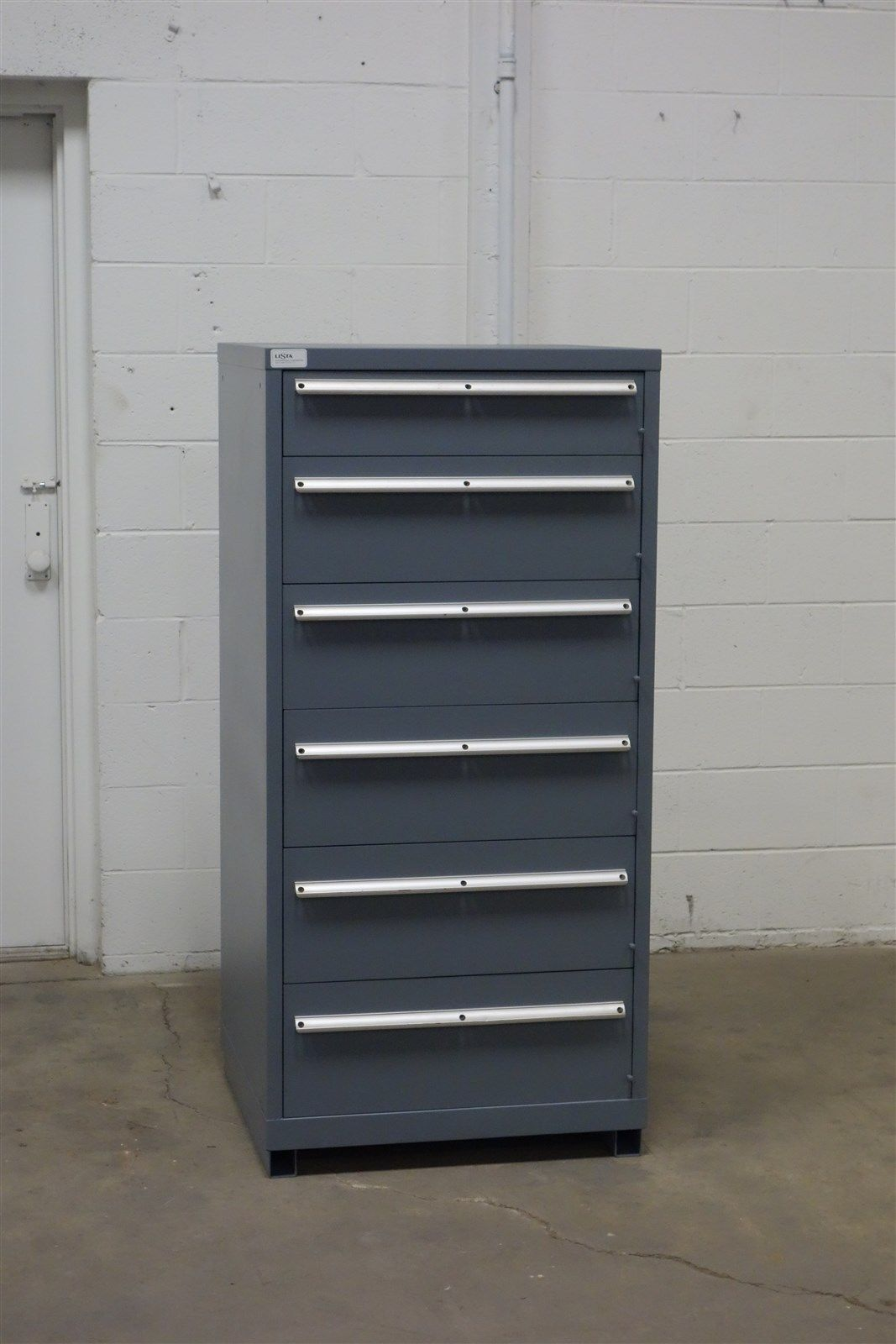 Used Lista 6 Drawer Cabinet Industrial Tool Parts Storage ...