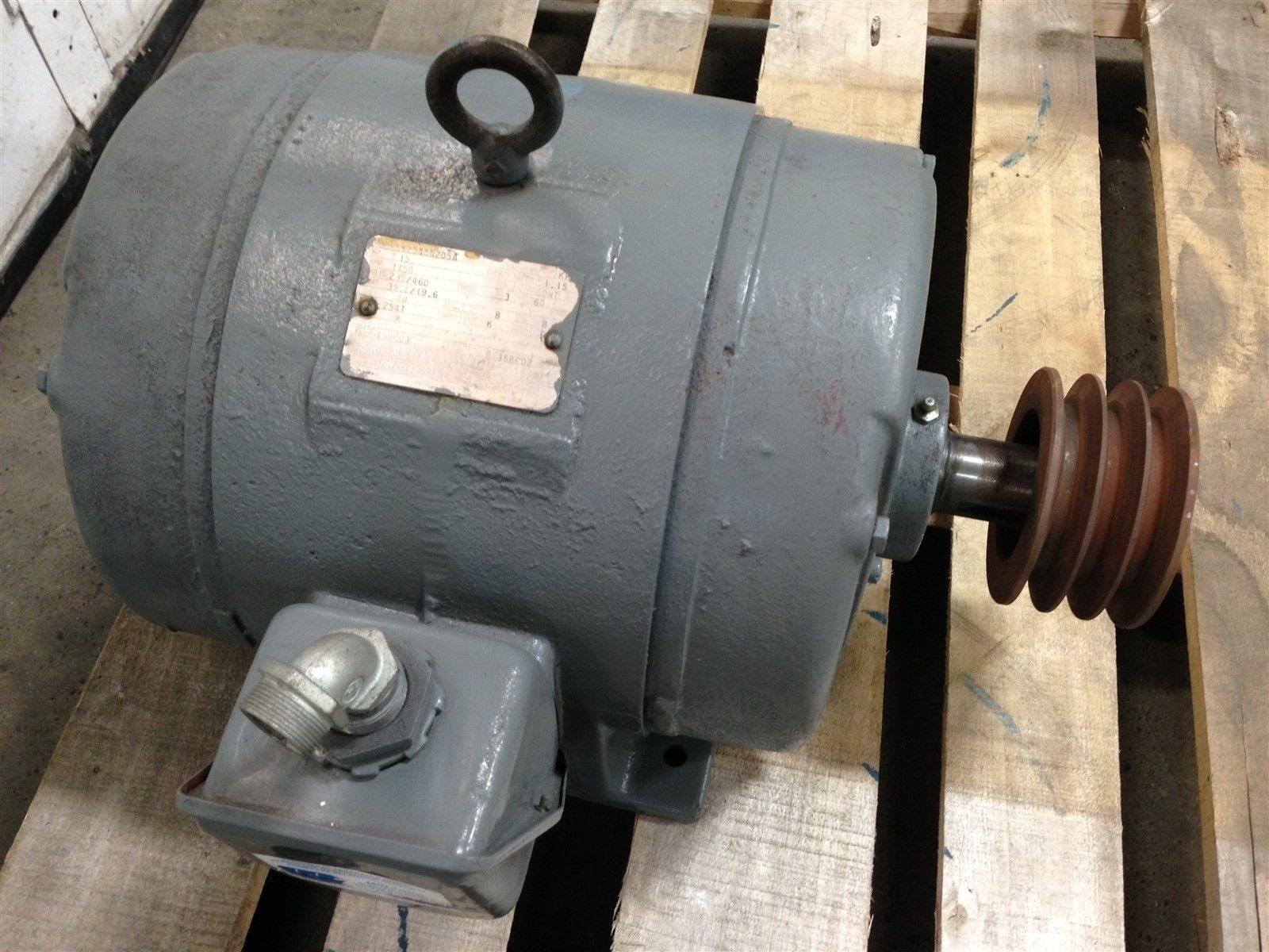 GE 5K254AN205A ELECTRIC AC MOTOR 15HP FRAME 254T TYPE K 1750 RPM 230 ...